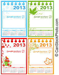 Calendar 2013-2015, vector - Calendar 2013