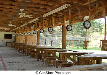 Outdoor Rifle Gun Range - This is an outdoor gun range