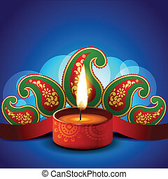 stylish vector diwali diya background