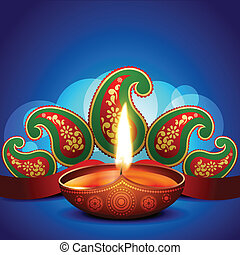 artistic diwali background - beautiful artistic diwali diya...