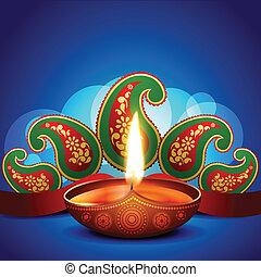 artistic diwali background - beautiful artistic diwali diya...