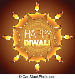 artistic diwali background - vector artistic diwali...