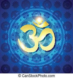 hindú,  Om,  vector, texto