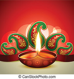 beautiful vector diwali diya illustration