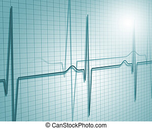 Heart Beat - A medical background with a heart beat pulse...