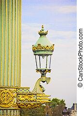 Lamp in the Place de la Concorde square, Paris