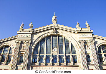 Gare du Nord, train station in Paris