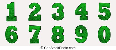 The green numbers