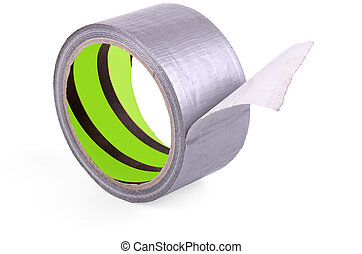 roll of adhesive tape on a white background