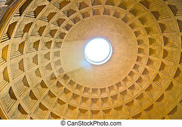 Pantheon ceiling, Rome, Italy