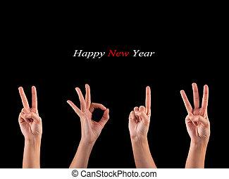 2013, nouveau, année, projection
