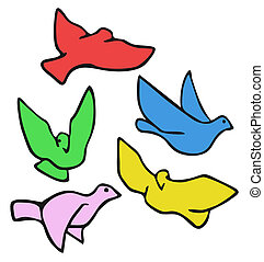 Colorful dove - Creative design of colorful dove