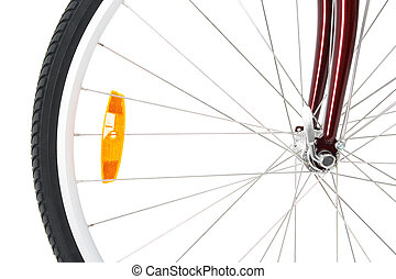Front wheel of a bicycle