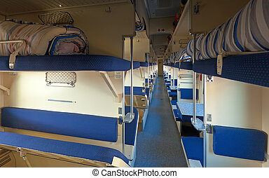 Interior of sleeper train
