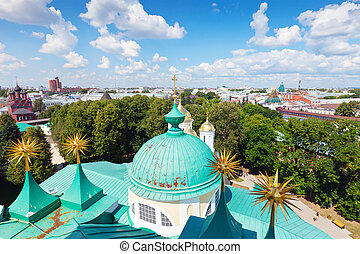 Top view of old Yaroslavl. Russia - Top view of old district...