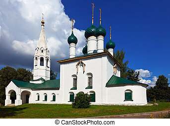 St Nicholas Church at Yaroslavl in summer was constructed in...