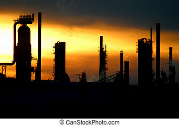 refinery - An oil refinery in Edmonton,Alberta,Canada.