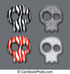 Skulls. Element for your design. Eps10.