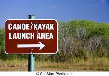 Canoe and Kayak Launch Sign, DuPuis Managment Area, Florida