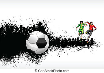 Soccer Player - illustration of soccer player playing on...
