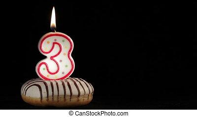 Three years - Three years birthday Background with copyspace...