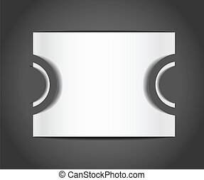 Blank paper photo card