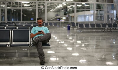 using mobile phone at airport