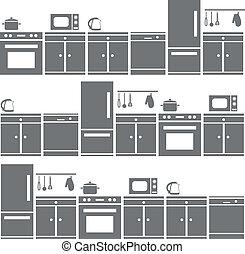 kitchen equipment seamless pattern