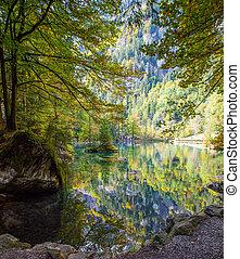 Lakeside autumn - Autumn at Blausee, Switzerland