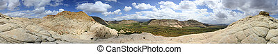 Panoramic View of Snow Canyon - Utah - Panoramic Shot of...