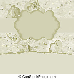 Abstract Elegance Vintage polka dot card. EPS 8