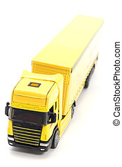 truck - object on white toy yellow truck