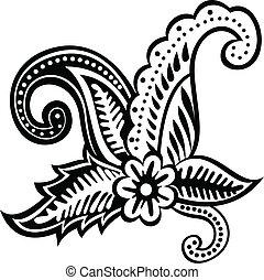 floral design element - vector illustration of floral design...