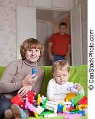 kind, Spielzeuge, Spiele, Mutter