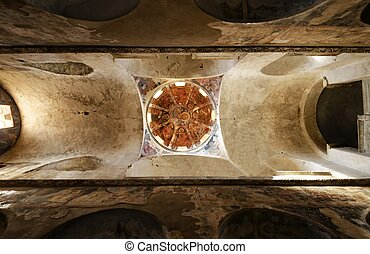 Mystras church dome - The dome and hagiographies of one of...