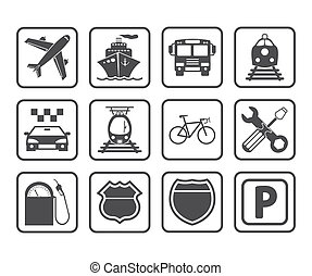 Transportation icon. - Transportation icons and signs....