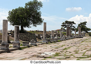 Via Tecta, the Roman sacred street leading to the Asklepion...