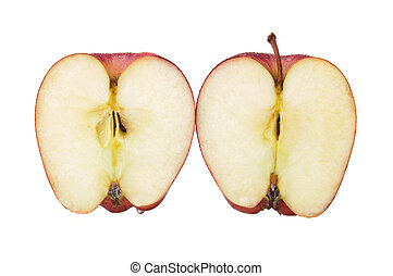 red sliced apple isolated images and stock photos 5332