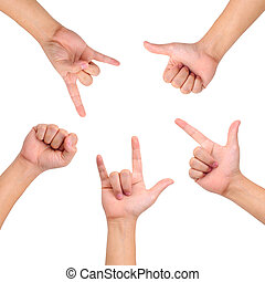 Compilation of hands - Compilation of different hand signs...