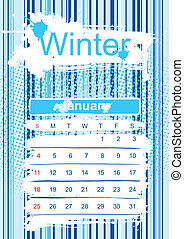 Winter season - template of winter season. 2010