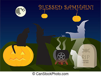 Samhain and immortal friendship - Live and ghost witch...