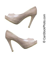 High Heeled Shoes - Ladies high heeled shoes isolated...