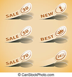 Sticker Labels - Set Sticker Labels with Sale, Best and New...