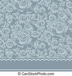 frost background - Calligraphic floral ornament. Background.