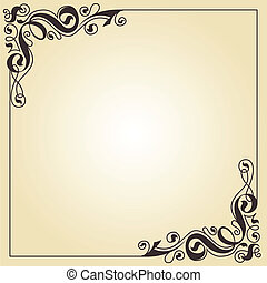 calligraphy ornament frame