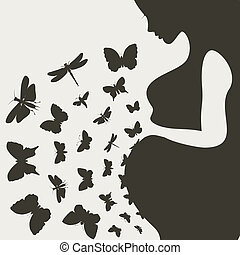 Pregnant girl9 - From the pregnant girl butterflies fly. A...