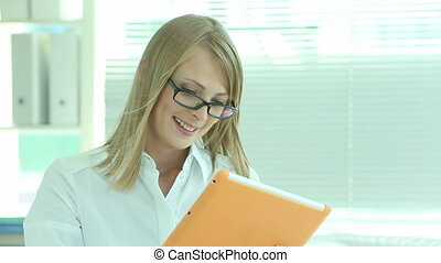 Female entrepreneur - Lovely business lady doing business...