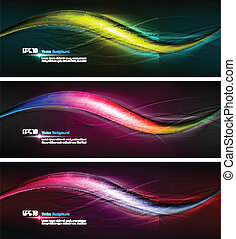 Intensive Colors | Wavy Banner Illustration | EPS 10 Vector...