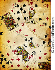 Dirty Playing Cards Background Texture Design scanned in...