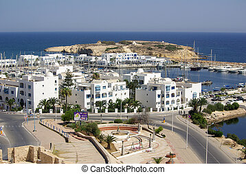 Sea coast in Monastir, Tunisia in Africa - Mediterranean...